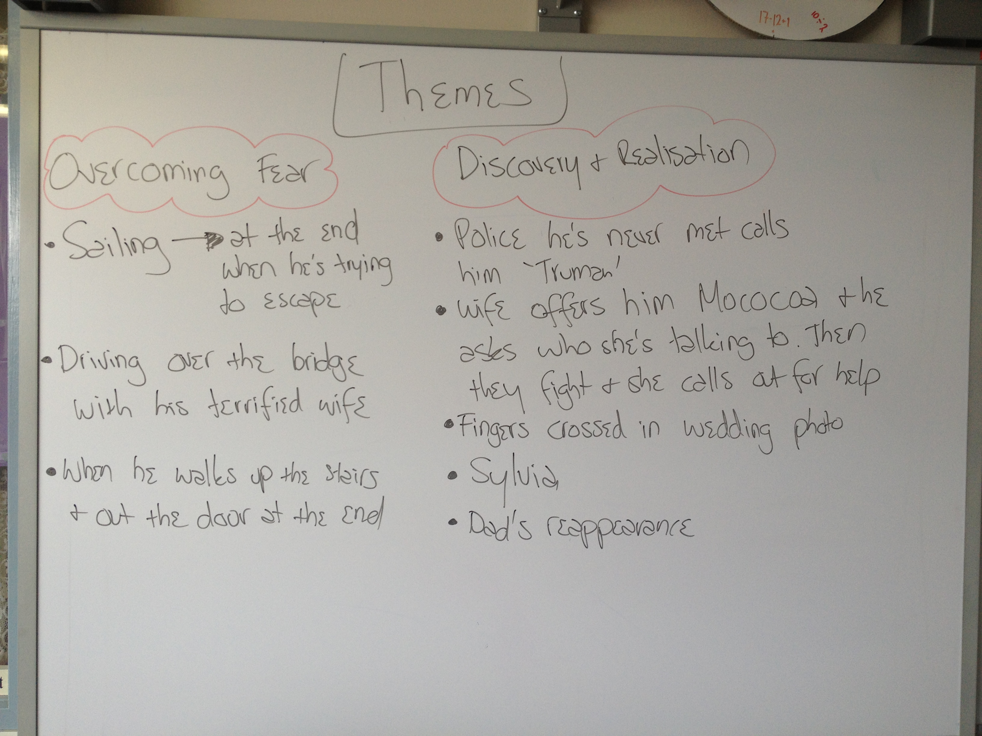 the truman show themes english here is the stuff we did on the board the other day to do the themes in the truman show